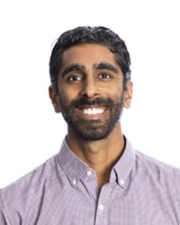 A small headshot of a physician that's involved in developing a hub and spokes model for opioid treatment.