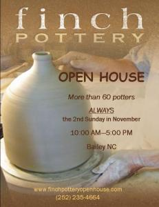 Finch Pottery Open House 2015