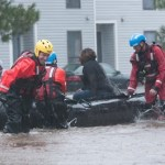 Water Rescue in Fayetteville Due to Hurricane Matthew