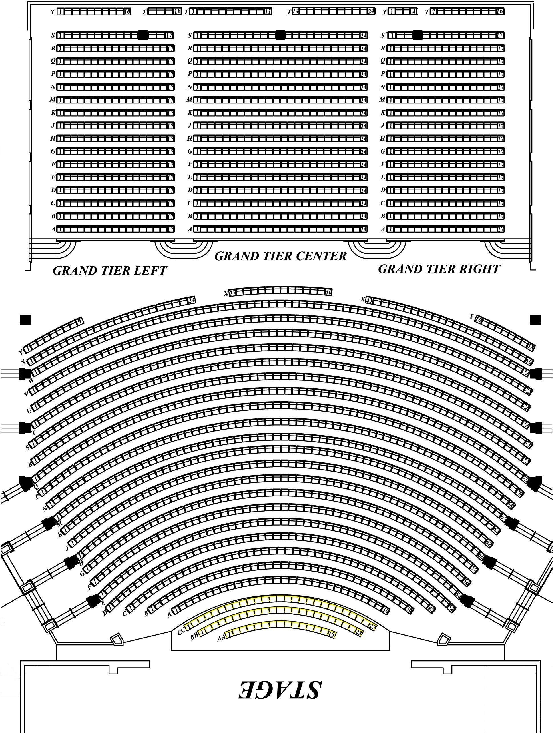 stage directions diagram 2007 nissan xterra stereo wiring seating charts | north charleston coliseum & performing arts center
