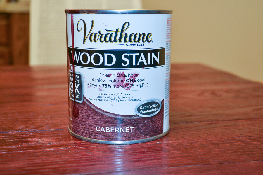 varathane wood stain in cabernet
