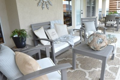 Table and Hearth - Rustic Patio Makeover