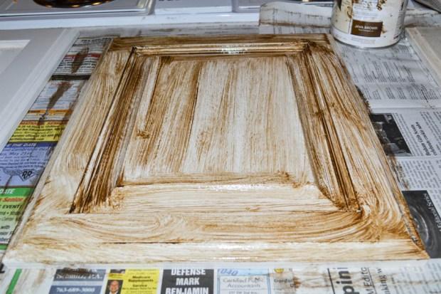 cabinet-door-glaze-step-one