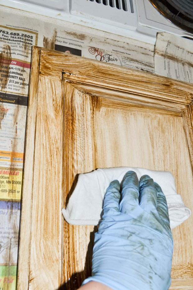 cabinet-door-glaze-step-two