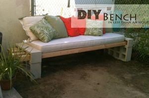 Home dit cinder block bench