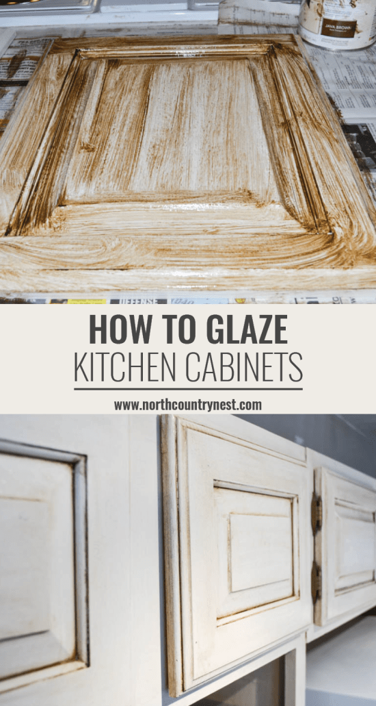 how to glaze kitchen cabinets