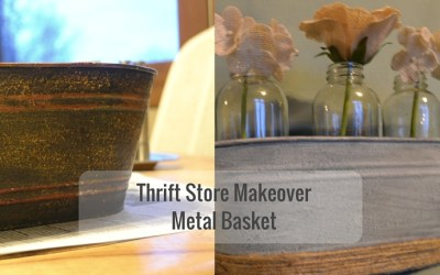 Thrift Store Makeover: Metal Basket