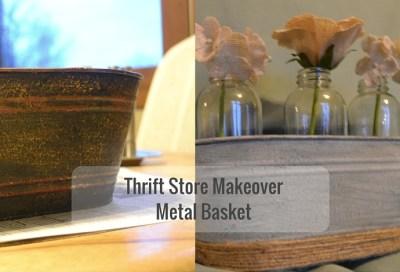 metal basket makeover
