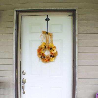 Five Step DIY Dollar Store Fall Wreath
