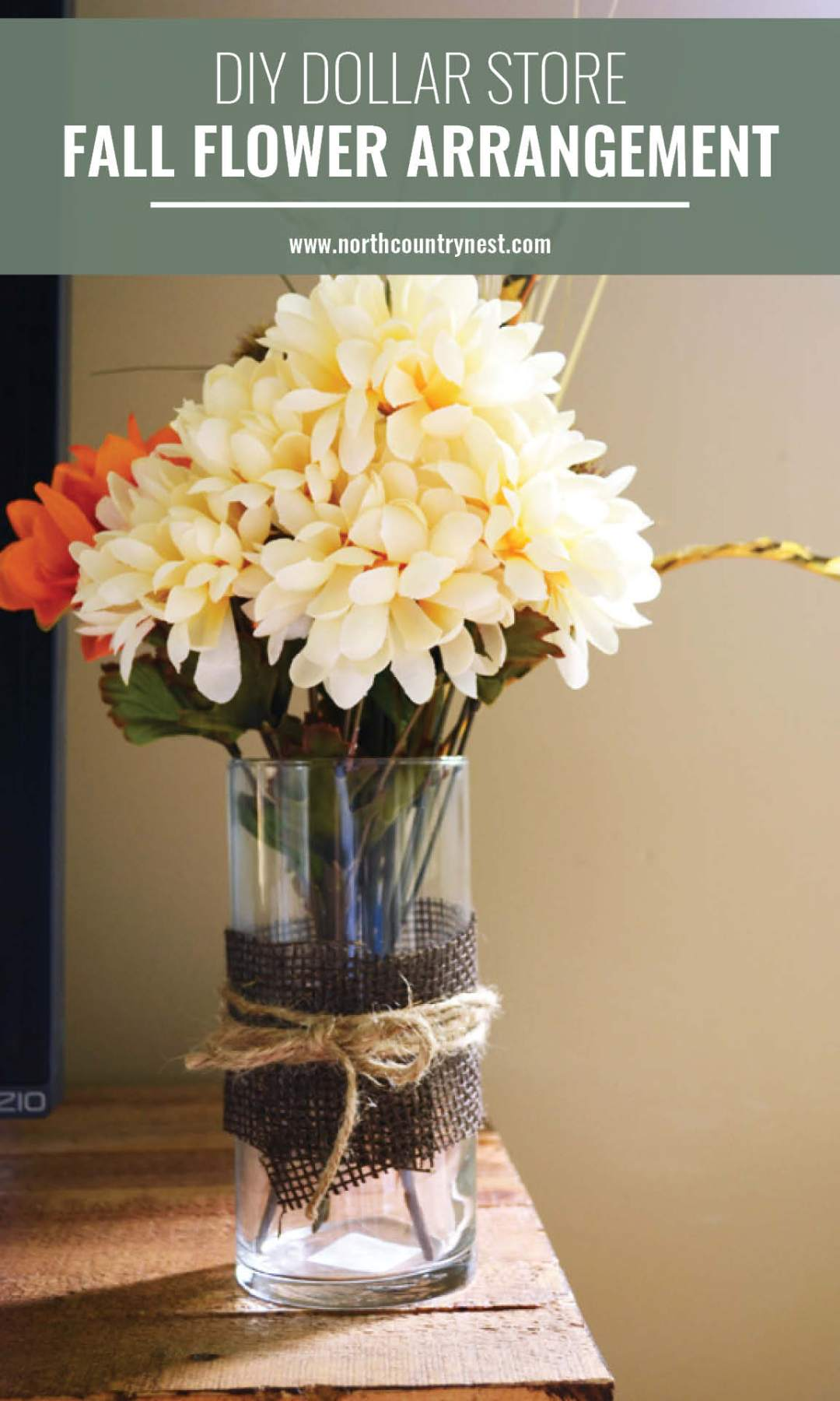 fall flowers in vase