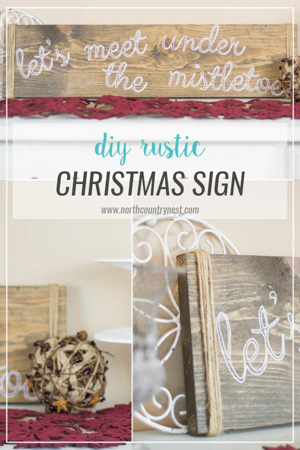 DIY Rustic Christmas Sign