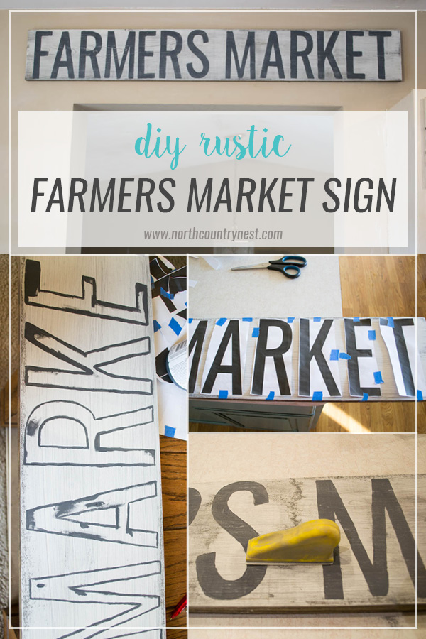 DIY Rustic Farmers Market Sign