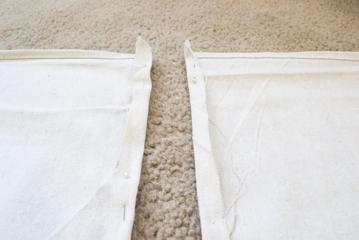 DIY Drop Cloth Curtains