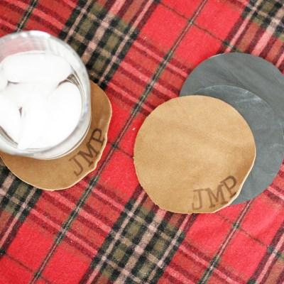 12 Days of Craftsmas: Personalized Leather Coaster Set