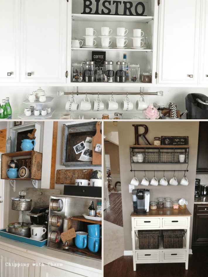 Industrial Farmhouse Coffee Bar Station