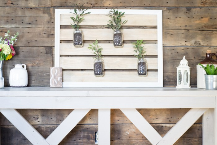 Mason Jar Planter Holder