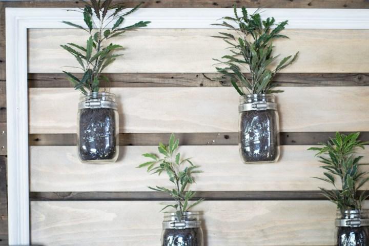 Mason Jar Plant Holder