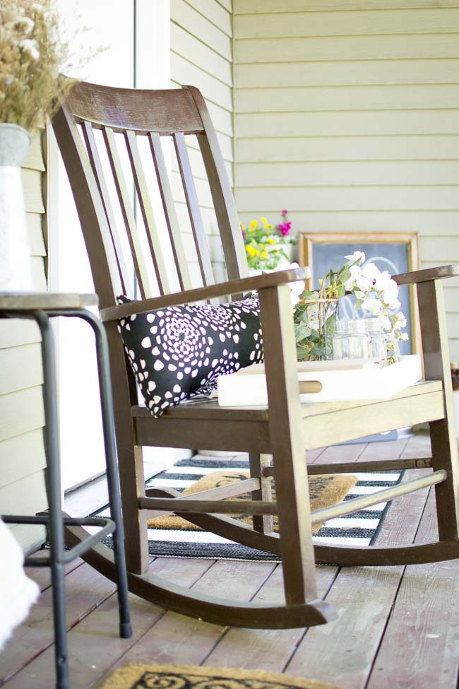 summer front porch rocking chair
