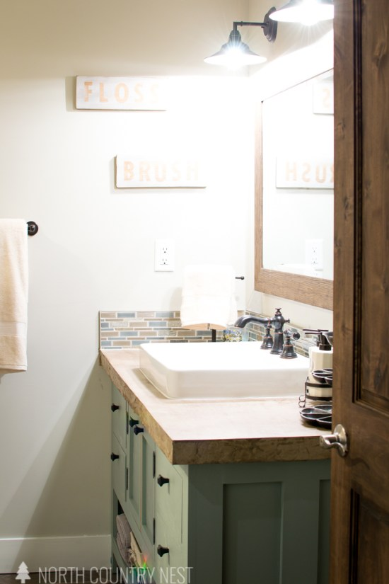 industrial farmhouse guest bathroom renovation