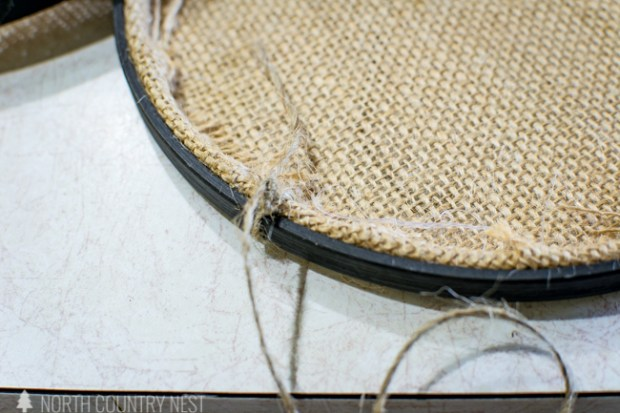 embroidery hoop hanging planter