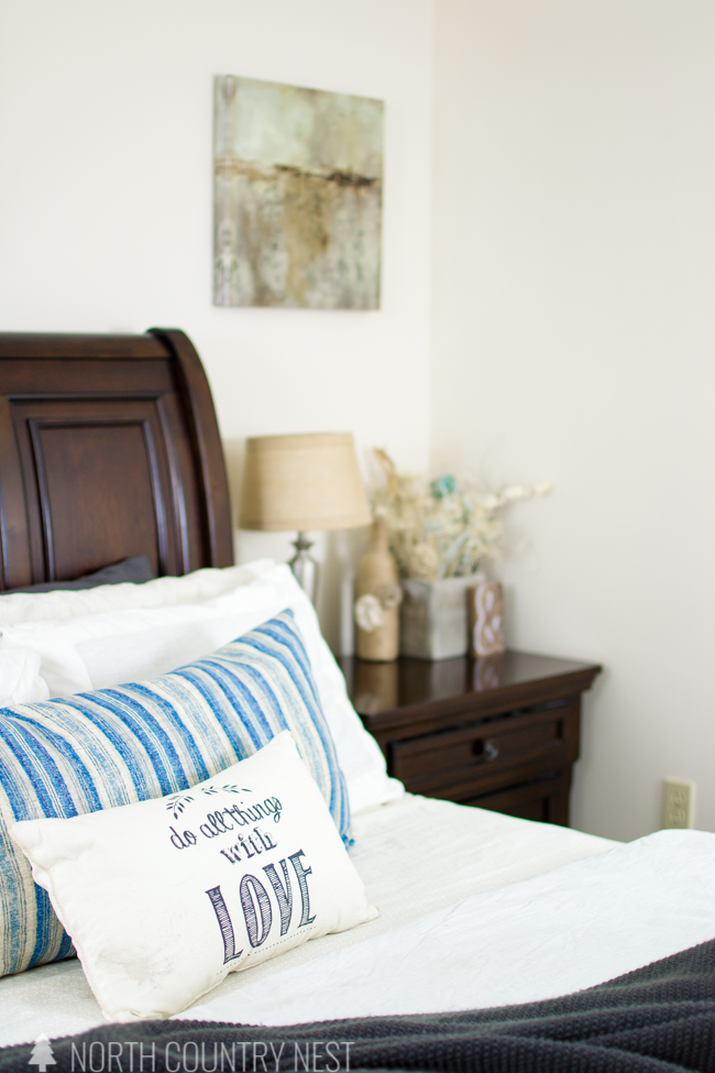 master bedroom summer home tour