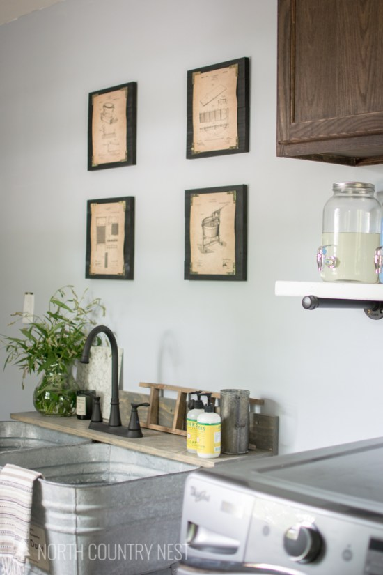 industrial style laundry room final reveal