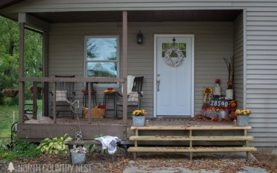Rustic and Traditional Fall Porch Tour