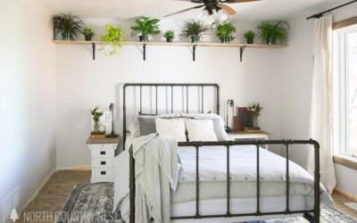 One Room Challenge Week Four: DIY Guest Bedroom Shelving