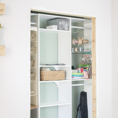 One Room Challenge Week Six: The Craft Closet Organization