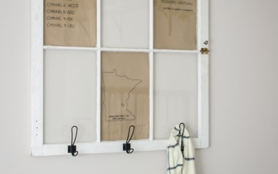 How to Repurpose an Old Window into a Coat Hanger