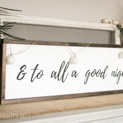 How to Make a Rustic Wooden Holiday Sign
