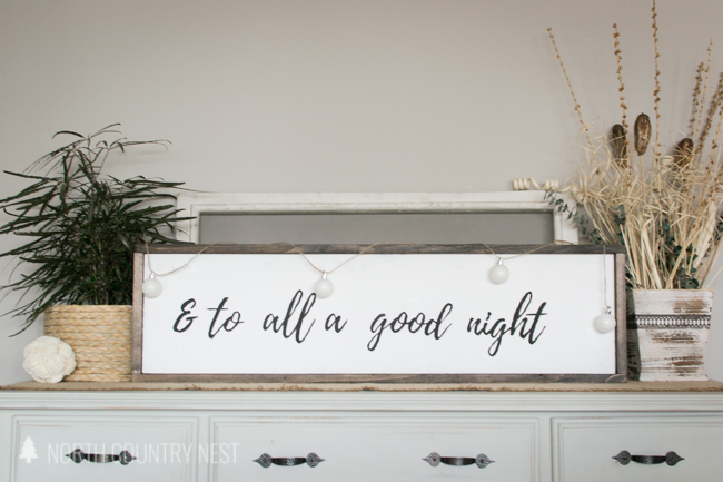 rustic wooden holiday sign