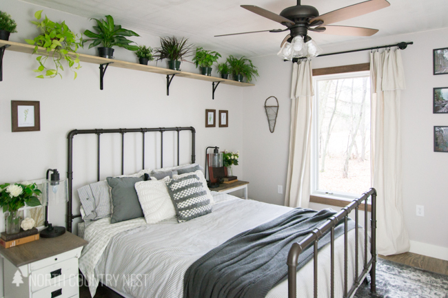 rustic industrial guest bedroom decor