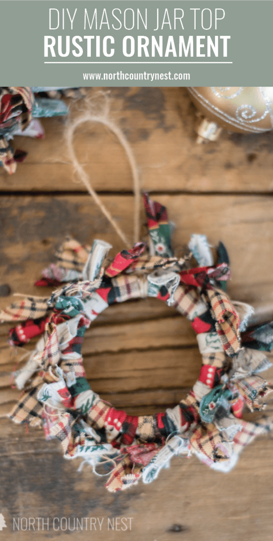 rustic mason jar ornament