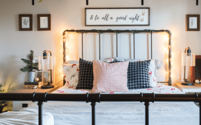 Festive & Cozy Guest Bedrooom Holiday Decor