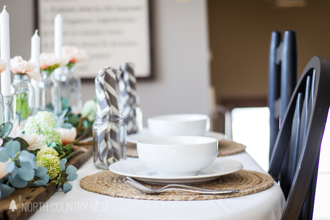 Simple and Romantic Spring Tablescape