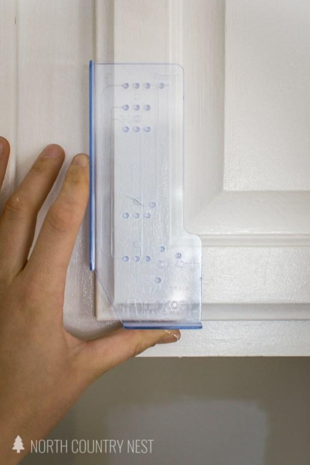 cabinet hardware alignment tool