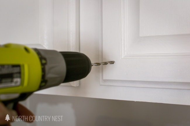 drill bit to install cabinet hardware