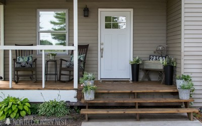 The Re-Sealed & Re-Painted Front Porch