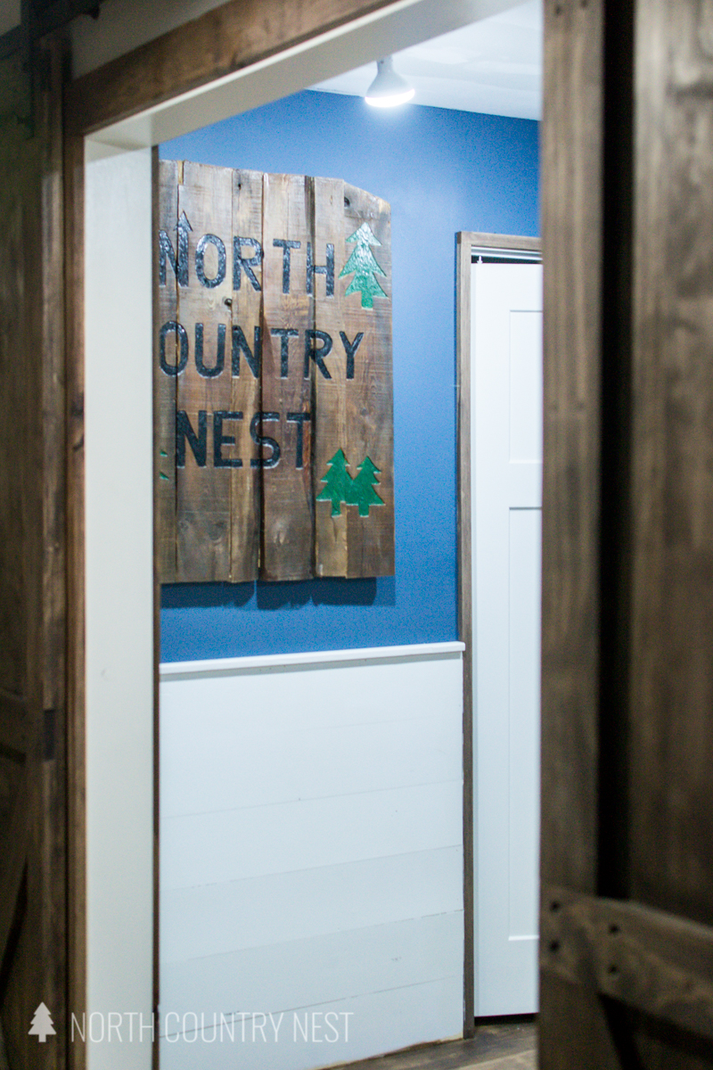 rustic sign in home office