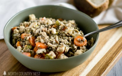 Gluten Free Chicken Wild Rice Hot Dish