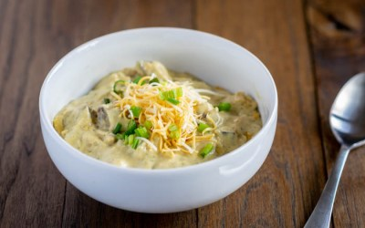 Cheesy Roasted Potato and Broccoli Soup