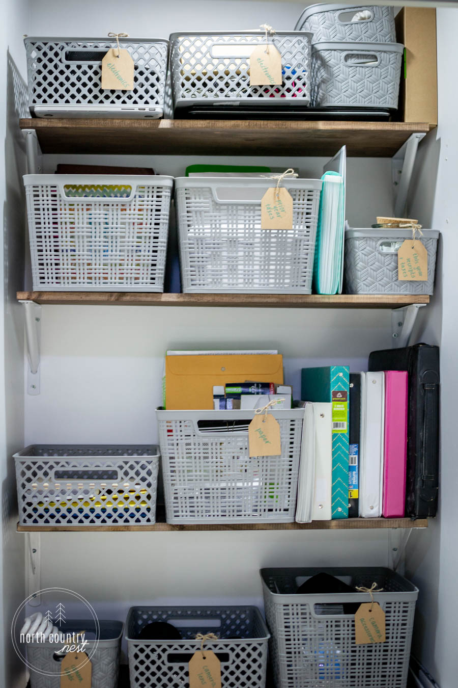 small office closet organization