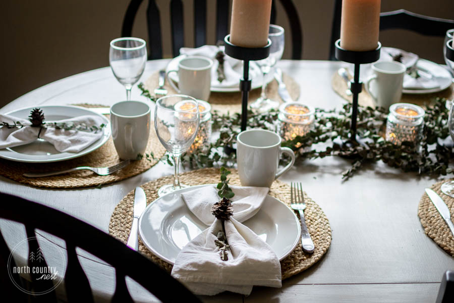 natural element holiday tablescape