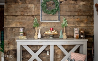 Rustic Farmhouse Holiday Home Decor Tour + Blog Hop