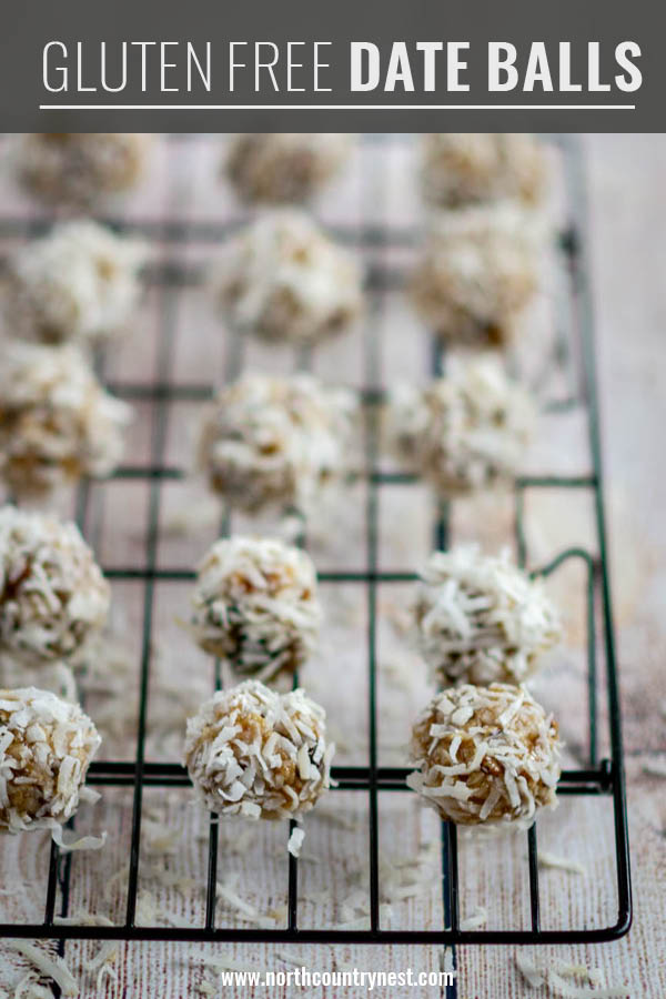 gluten free date balls on cooling rack