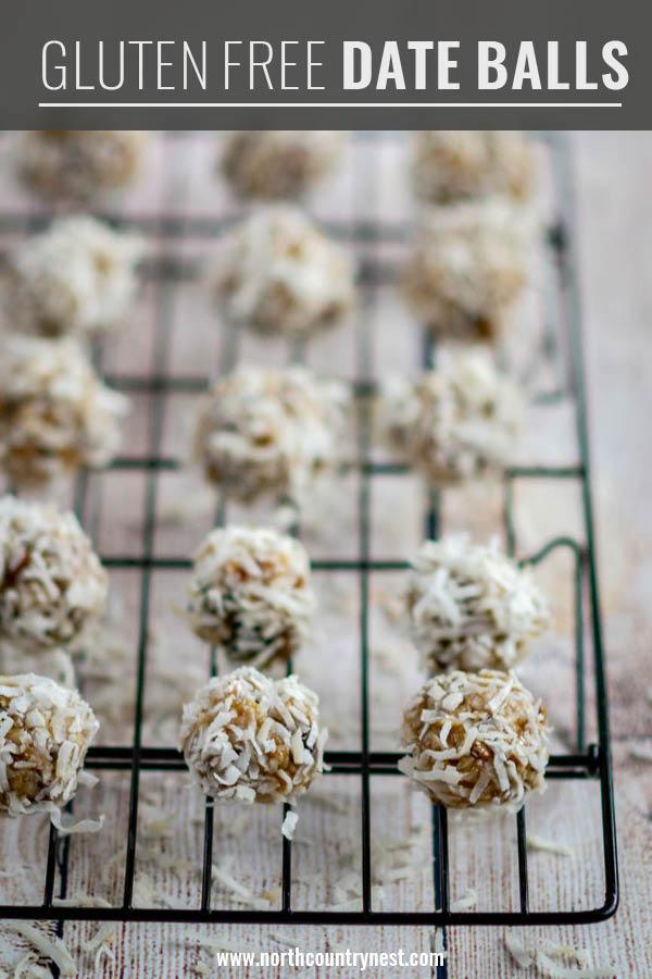 gluten free date balls on cooling rack