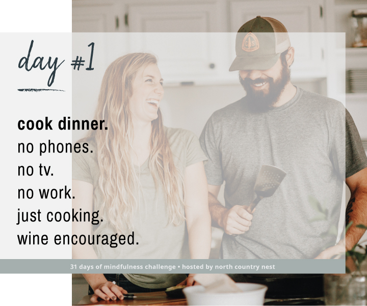 Mindfulness Challenge Day 1: No Distractions While Cooking