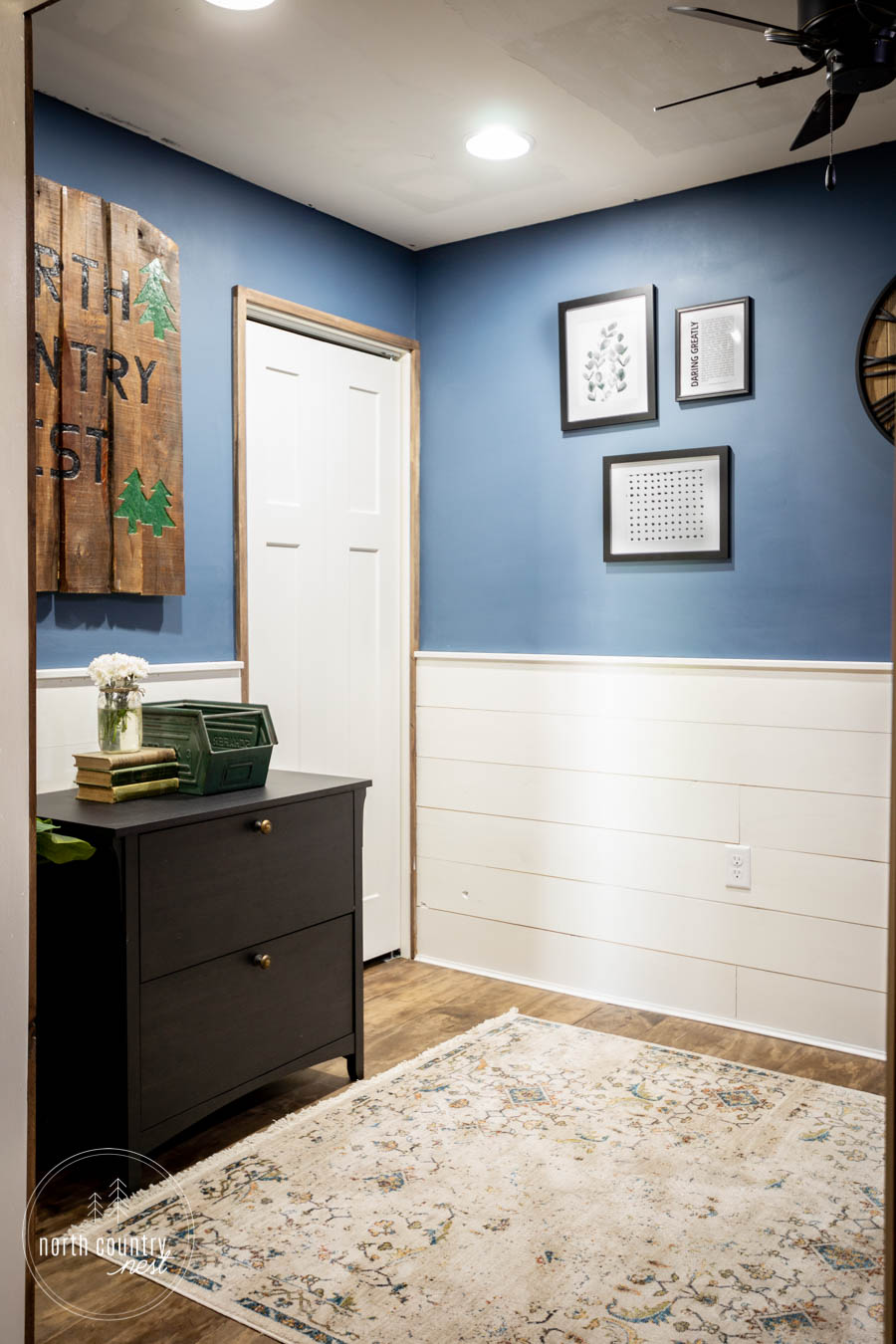 rustic home office wall art