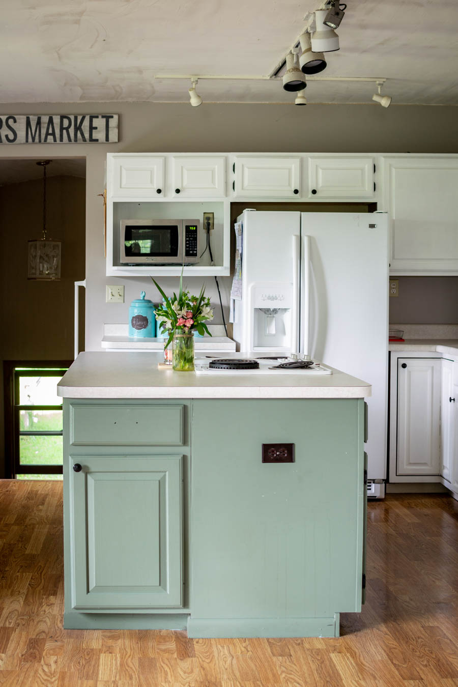One Year Later: Repainted White Kitchen Cabinets - North ...